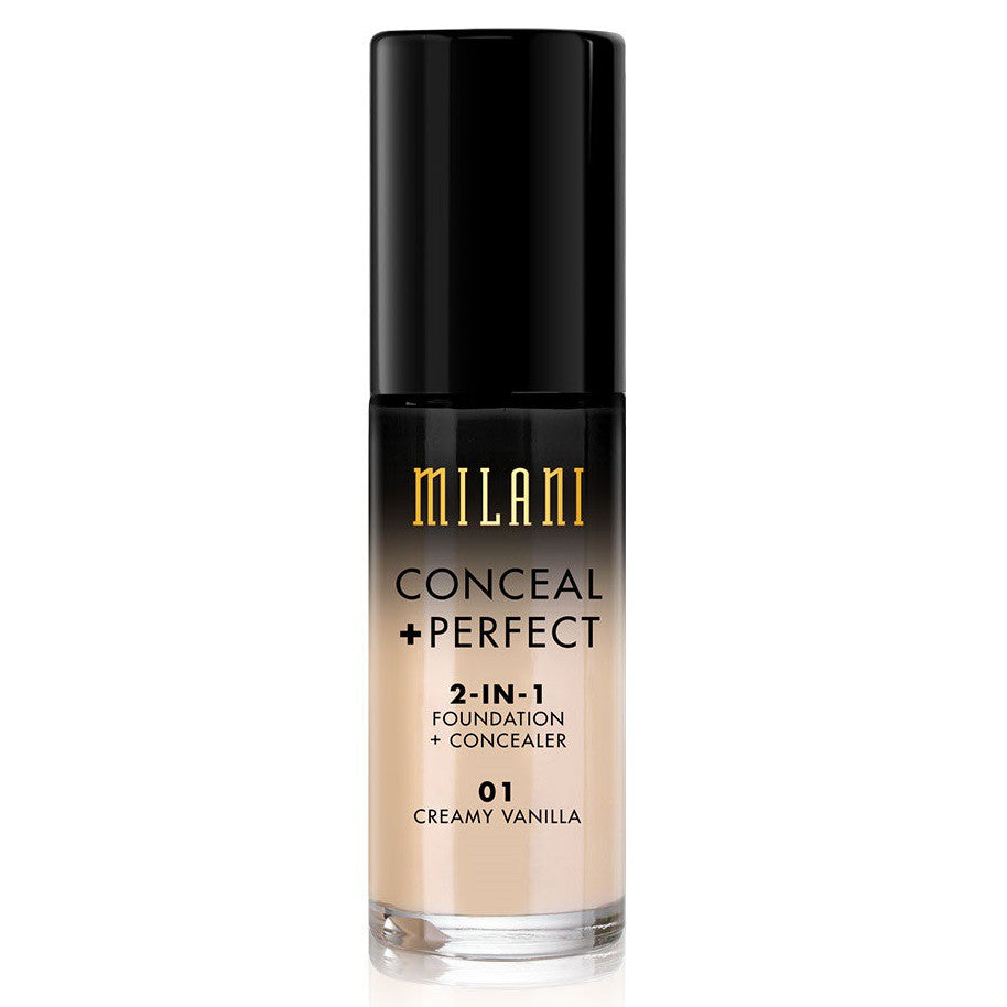 Milani Conceal & Perfect Foundation - 01 Creamy Vanilla
