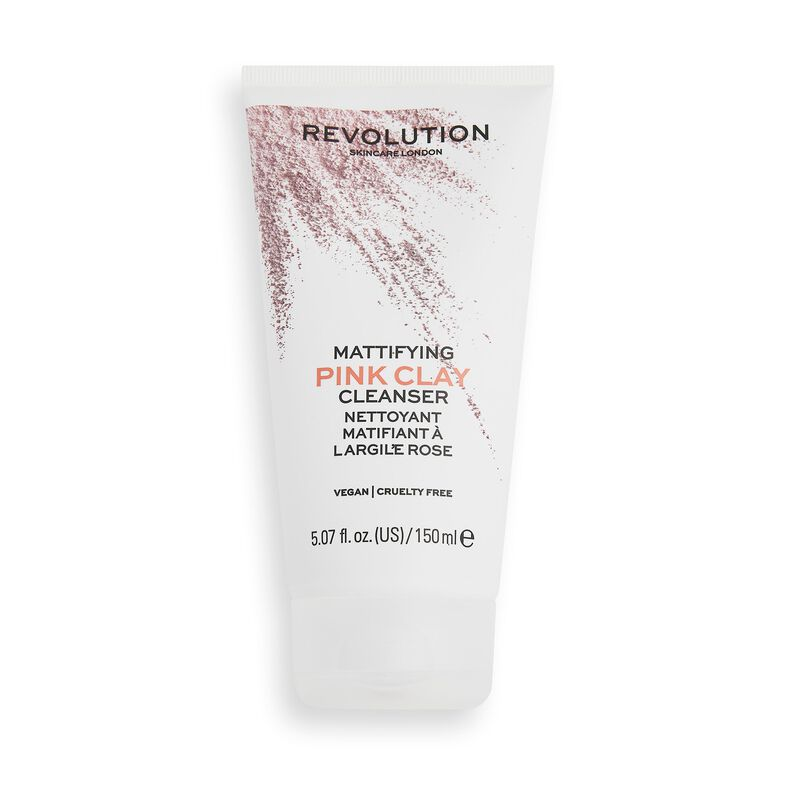 Makeup Revolution Skincare Mattifying Pink Clay Mud-to-Foam Cleanser