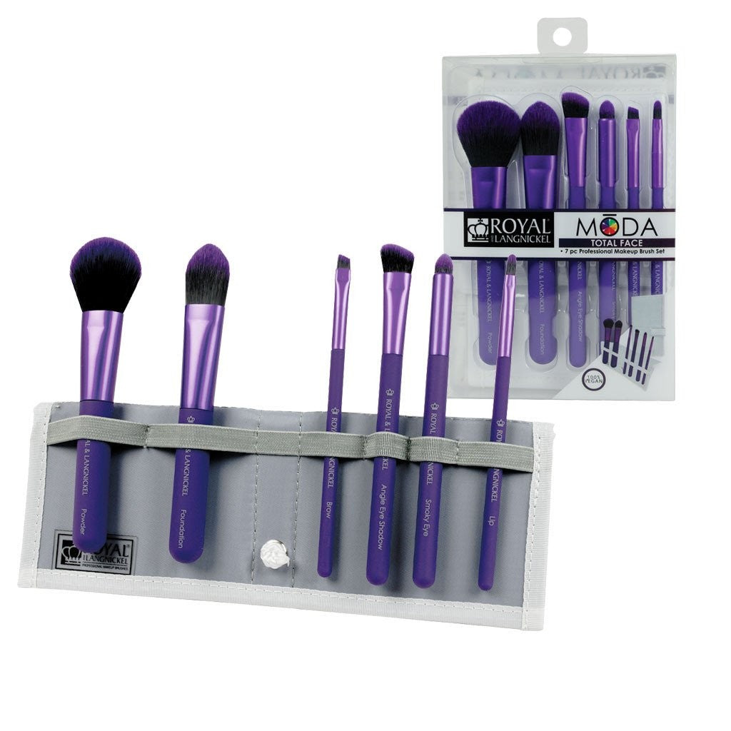 MODA - Total Face Purple Brush Kit