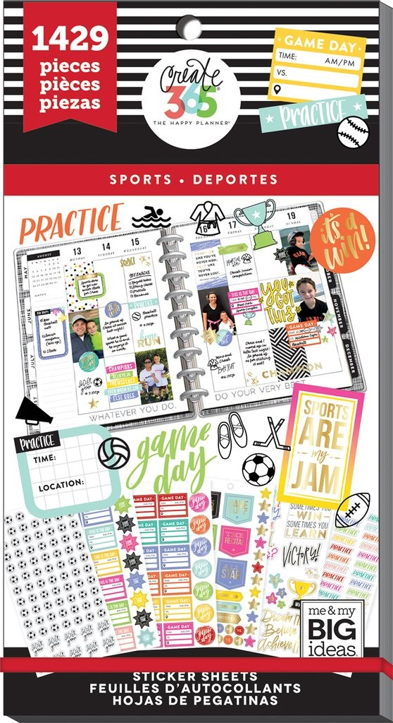 Happy Planner Value Pack Stickers - Sports