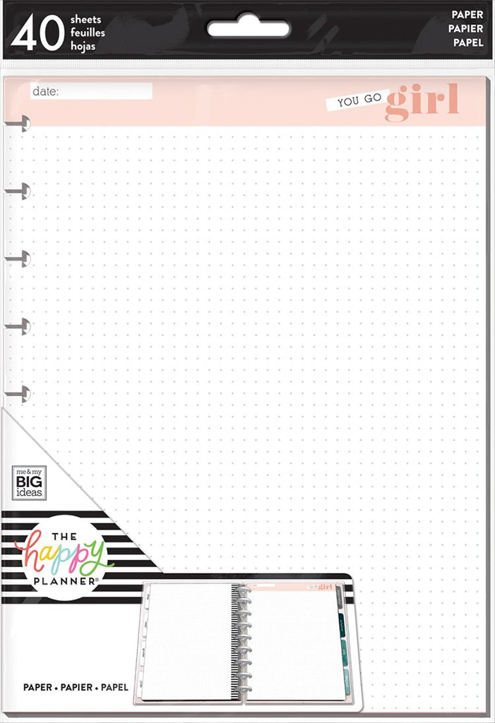 Happy Planner - Go Girl Dot Grid Note Paper - Classic