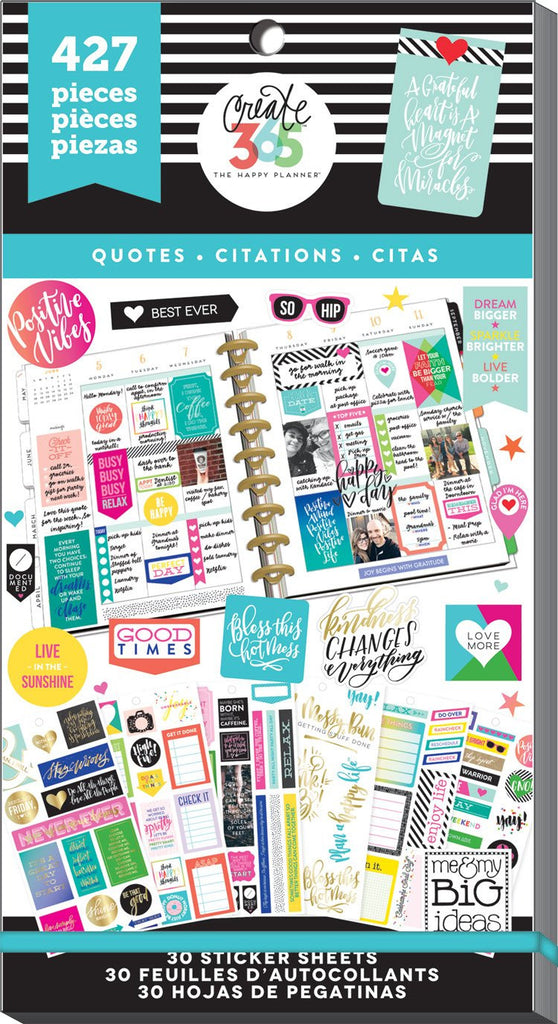 Happy Planner Value Pack Stickers - Quotes