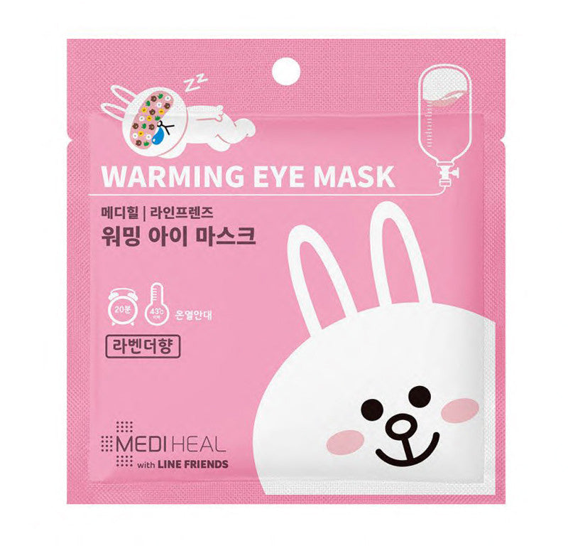 MEDIHEAL x Line Friends Warming Eye Mask - Cony (pink)