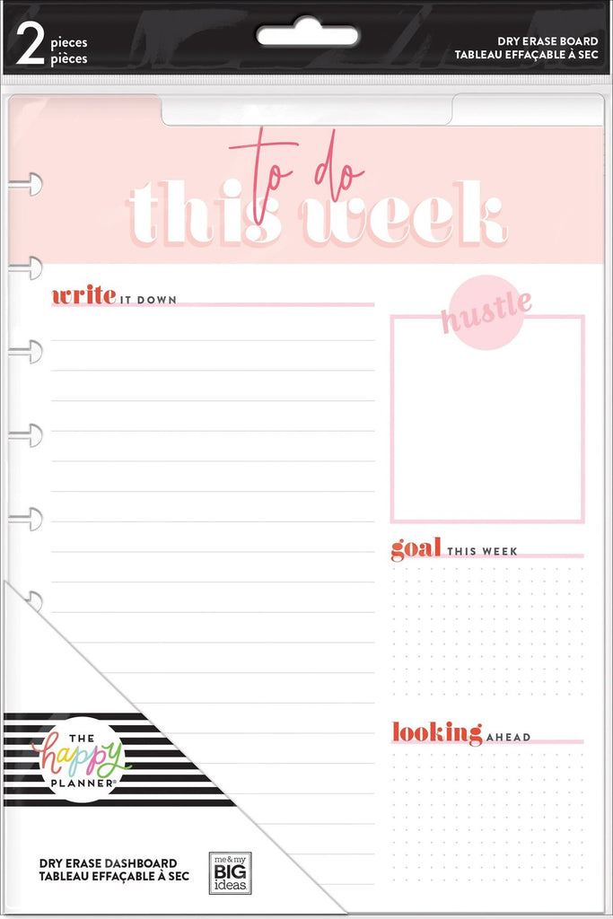 Happy Planner Classic Wet Erase Dashboards - Everyday