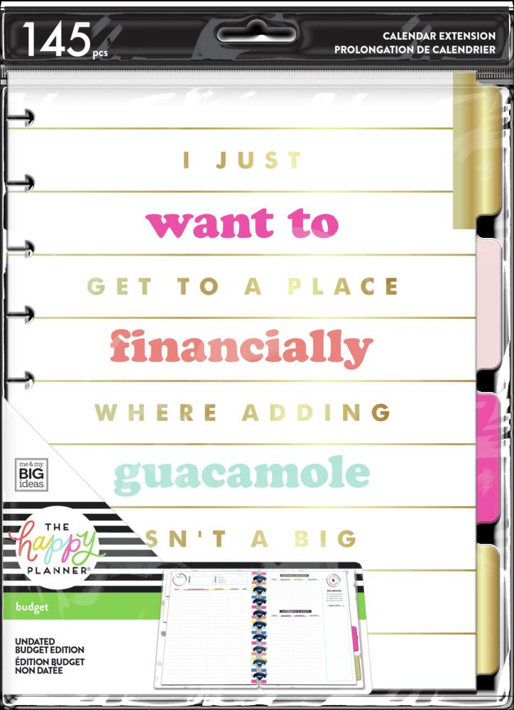 Happy Planner - Classic Extension Pack Plan A Happy Life Budget
