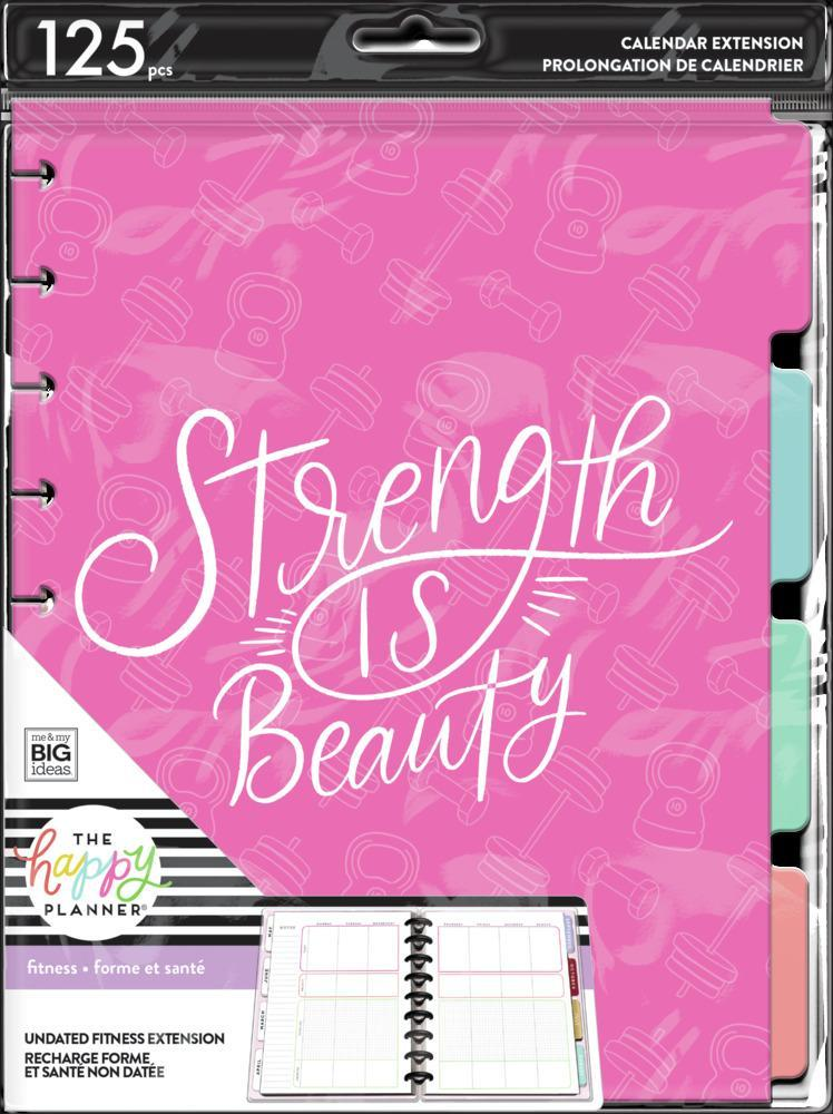 Happy Planner - Classic Extension Pack Strength is Beauty Fitness