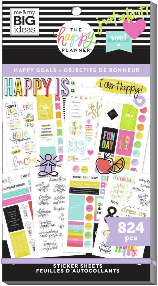 Happy Planner - Value Pack Stickers Happy Goals