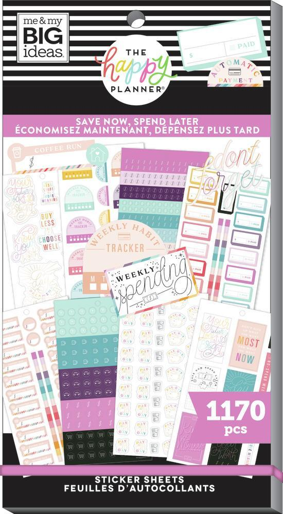 Happy Planner Value Pack Stickers - Save Now Spend Later