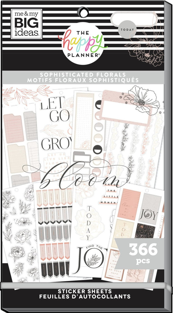 Happy Planner Value Pack Stickers - Sophisticated Florals