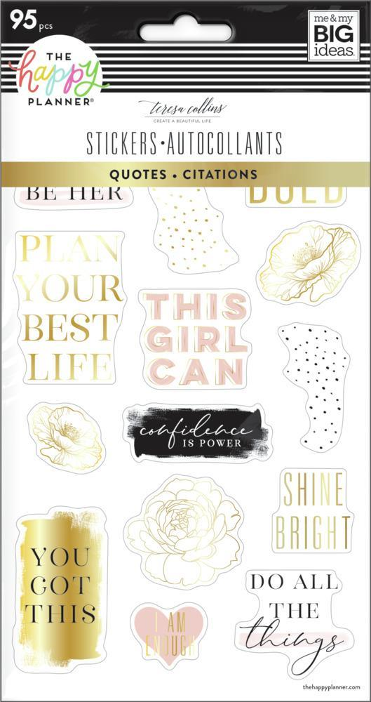 Happy Planner -  Stickers Sheet Quotes Teresa Collins