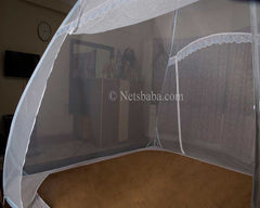 Mosquito Net For Bed - Terylene Fabric Blue
