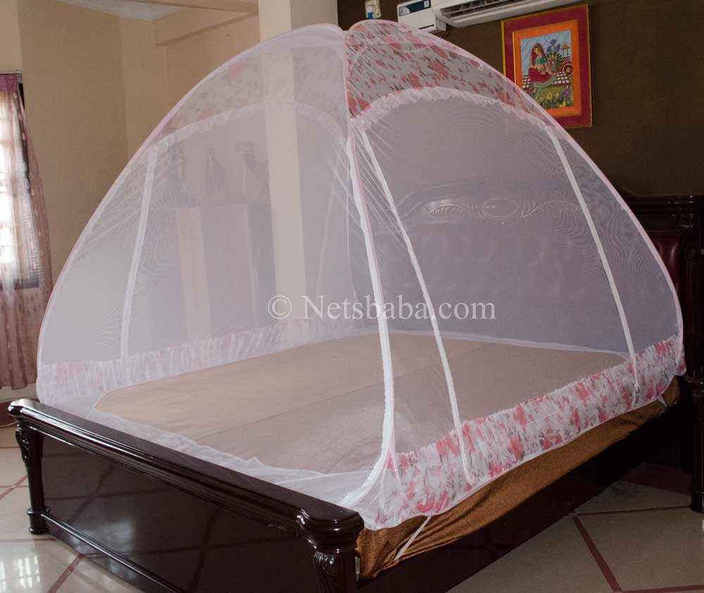 Folding Mosquito Net For Bed   Canopy AntiBite Pink