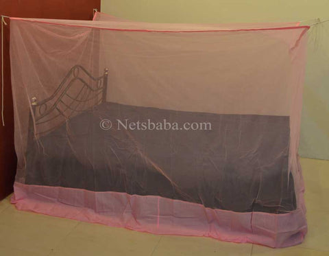 Poly Cotton Mosquito Net - Pink