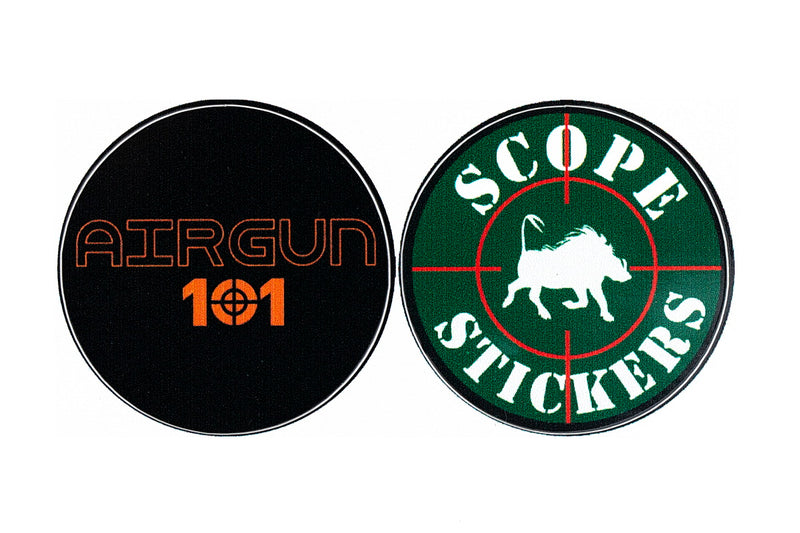 Scope Turret Stickers - Green - Yards - Airgun / Rifle