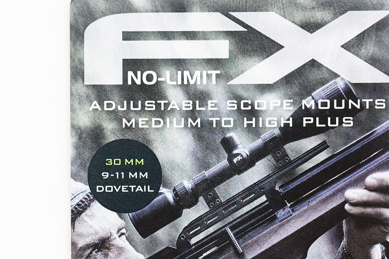 FX Airguns No Limit Scope Mount - Dovetail - 30mm