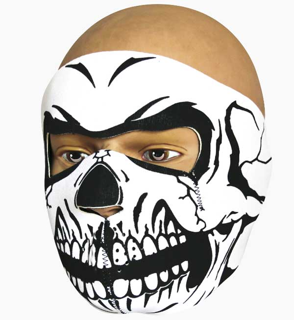 Face Mask - Skull - Neoprene