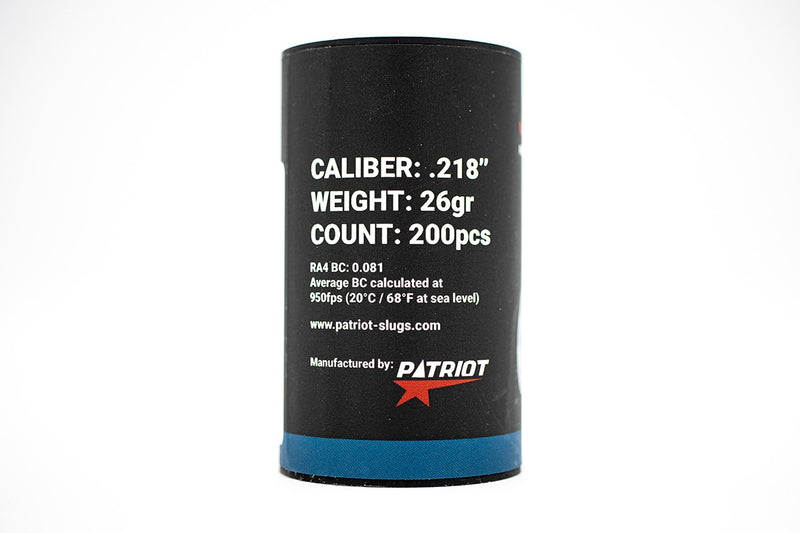 Patriot Javelin Slugs .22 / .218 / 26g