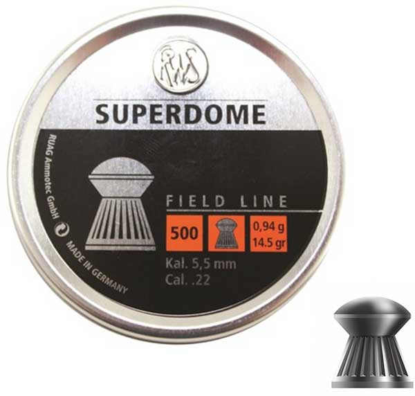RWS Super Dome Airgun Pellets .22 - 500 Tin