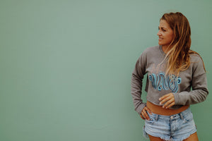 MAKE Waves Fleece Crop