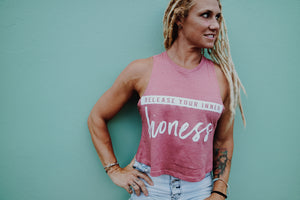 Release Your Inner Lioness Crop Tank
