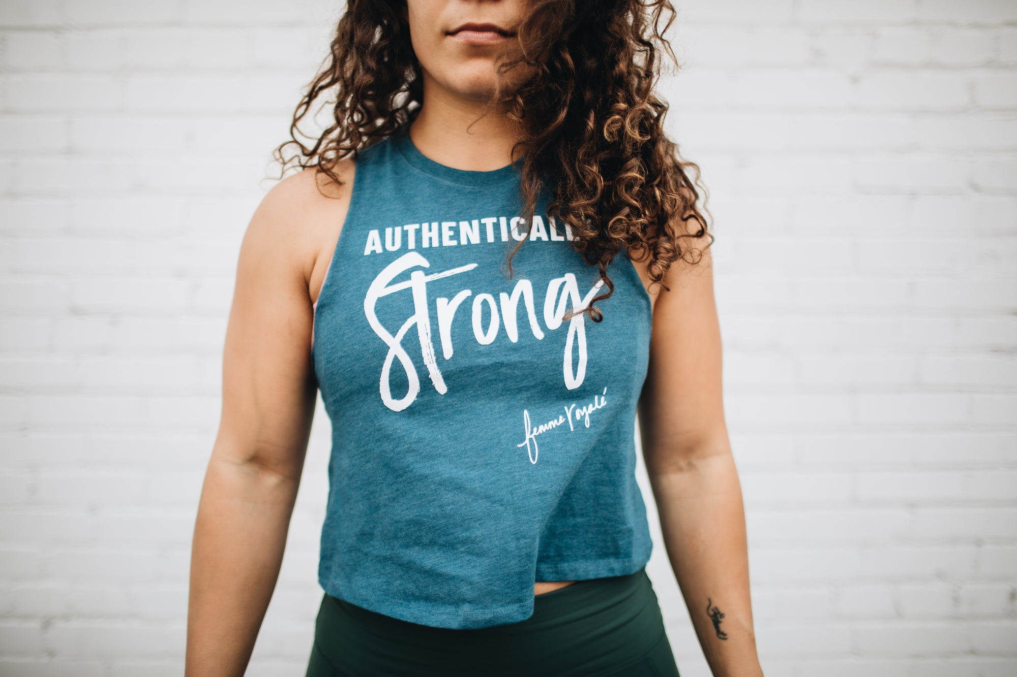 Authentically Strong Crop Tank