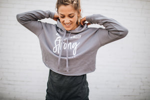 Authentically Strong Crop Hoodie