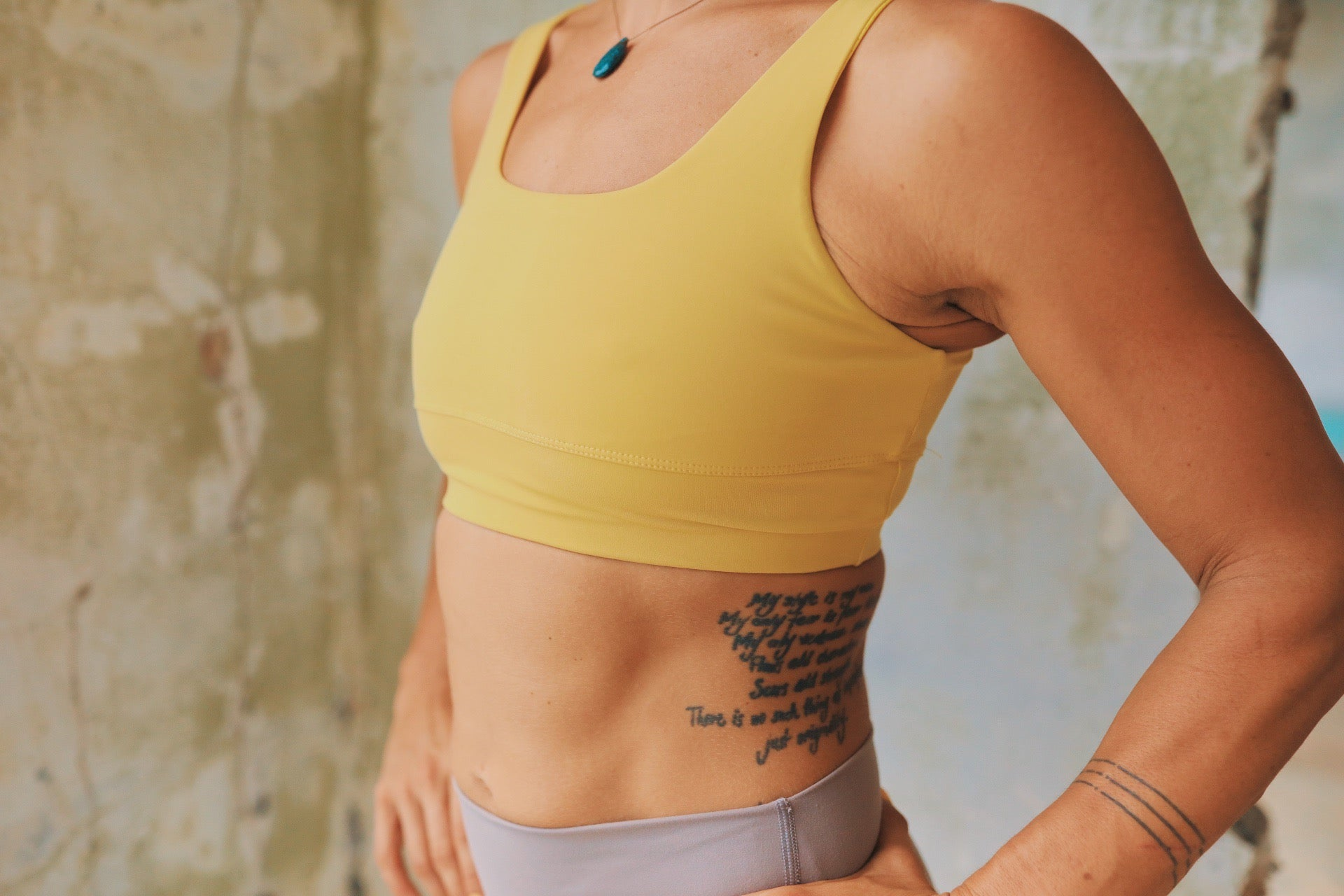 The Golden Sports Bra