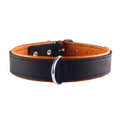 Collar Rodeo Negro/Cognac Remachado