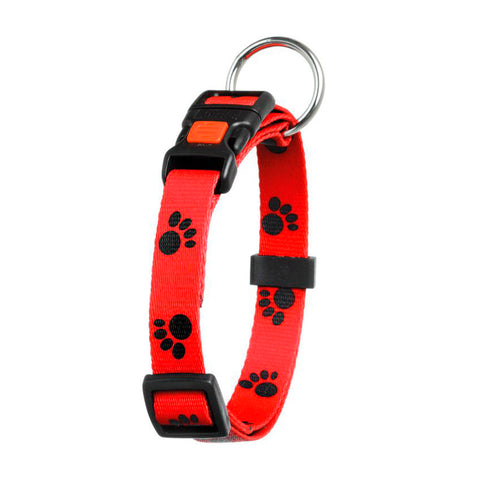 Art Joy Collar Karli, Rojo con Huellas