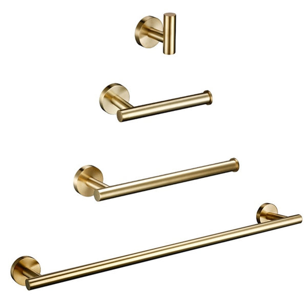 Brushed Gold Stainless Steel Bathroom Accessories