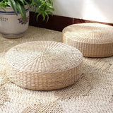 Handwoven Straw Floor Cushion 45 x 10cm