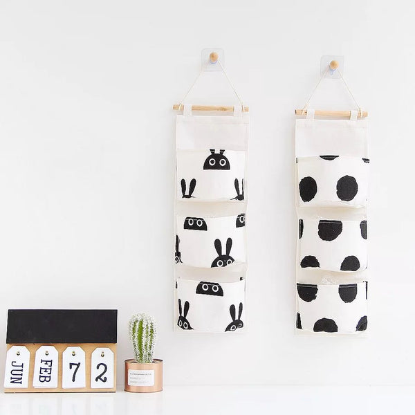 Monochrome Hanging 3 Pocket Storage