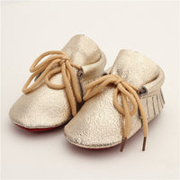 Leather Lace Up Baby Moccasins
