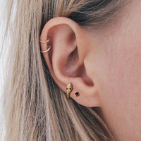Tiny Snake Hoop Earrings