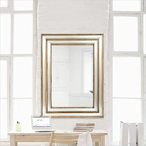 "MT1377 Drake 47"" Rectangle Aluminum Frame Wall Mounted Mirror by Renwil"