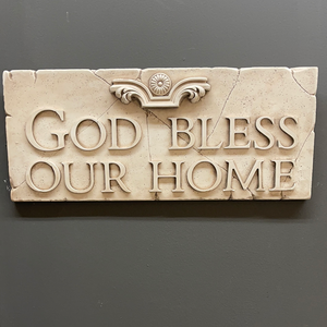 God Bless Our Home Ceramic Wall Art