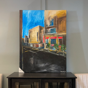 36x48 Downtown Signed Original Canvas by Warren Knapp