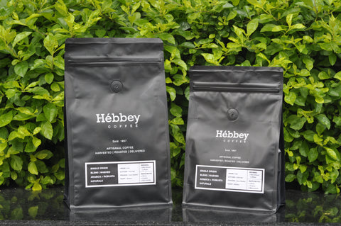 Hébbey Coffee Single Origin Blend - Washed Arabica + Robusta Naturals