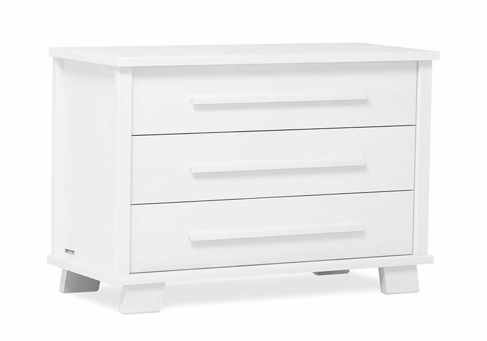 Boori Lucia Convertible Plus 3 Drawer chest with Change tray included - White