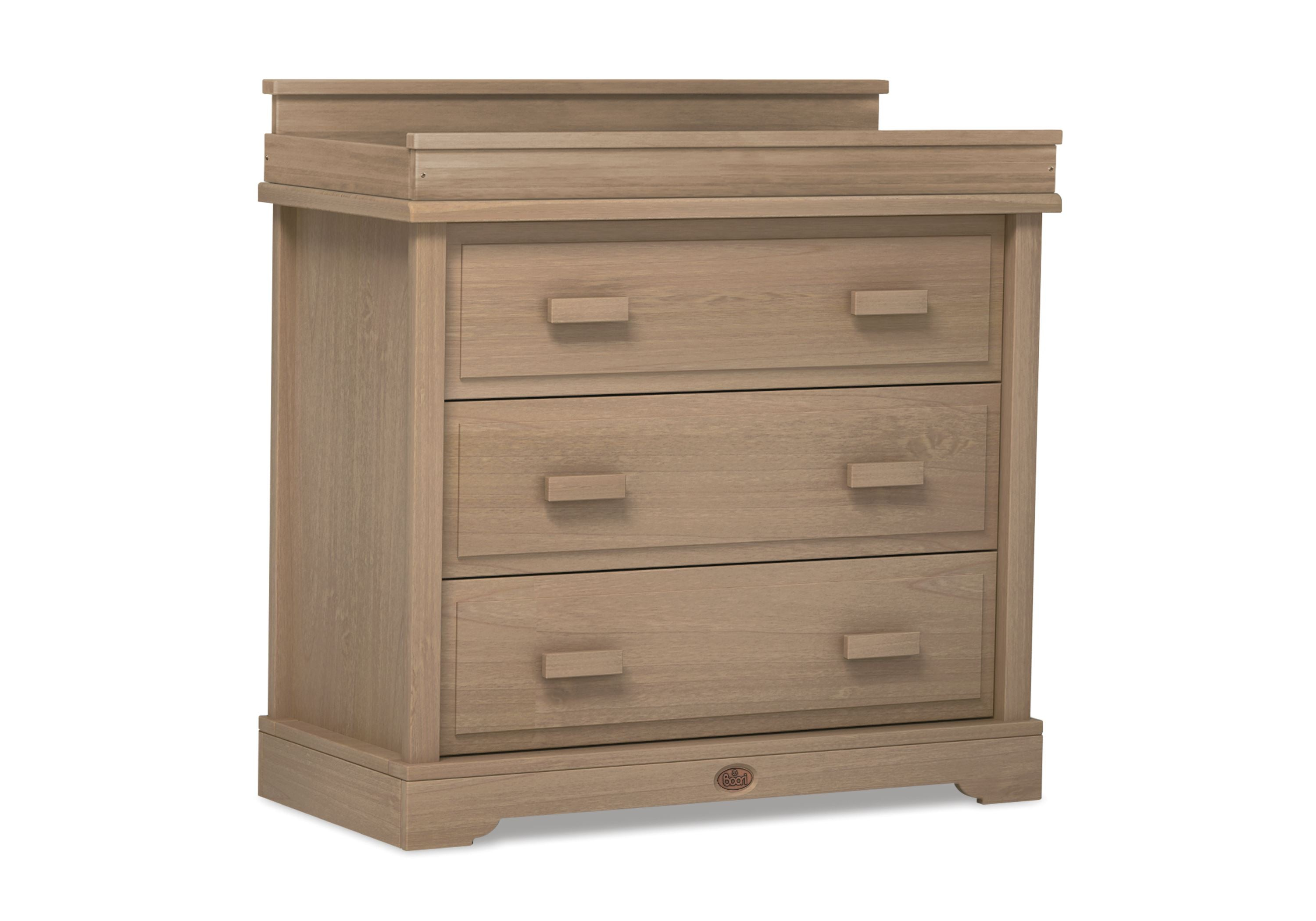 Boori Universal 3 Drawer dresser Shown with Squared Changing station