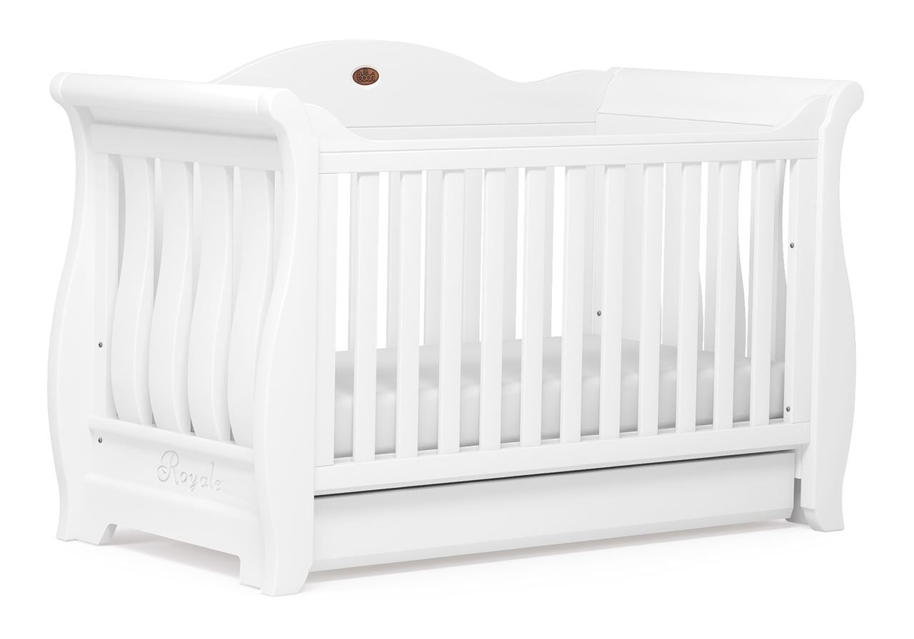 Boori Sleigh Royale Cot bed - White