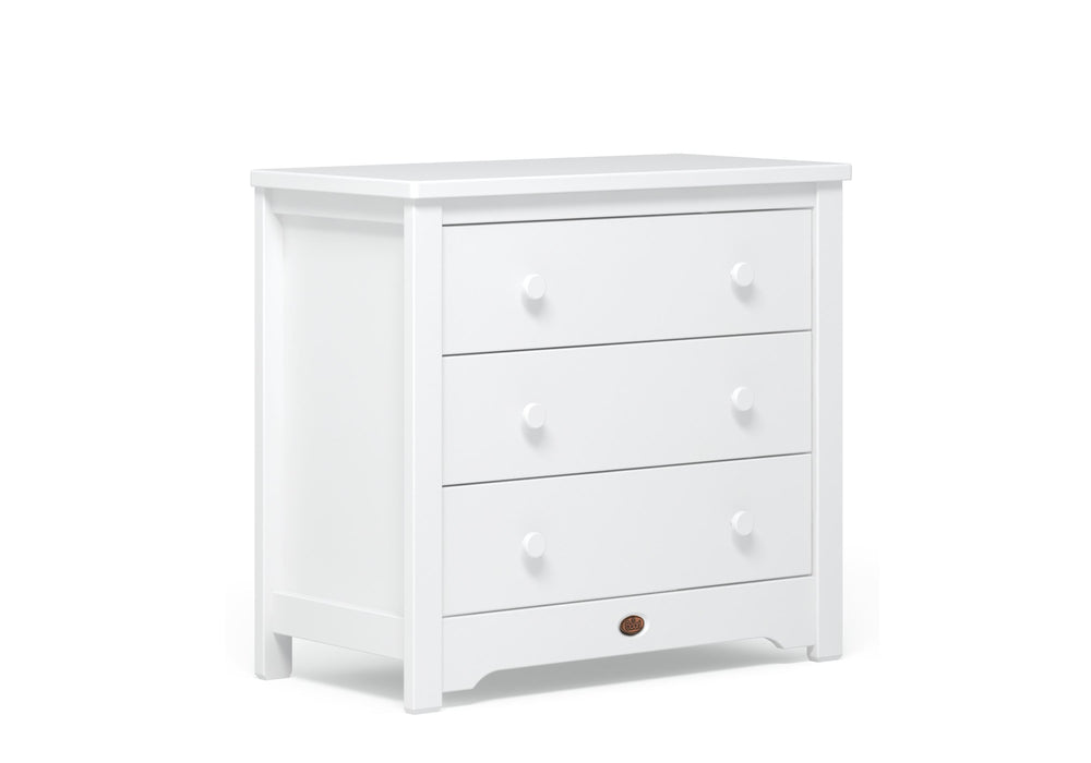 Boori Classic 3 Drawer chest with Arched Change tray - White