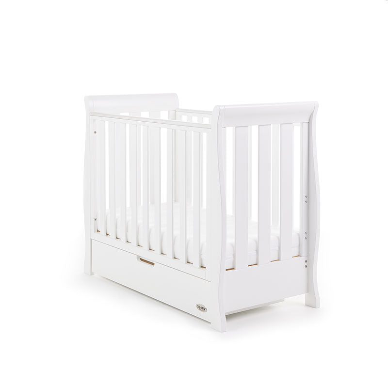 Obaby Stamford Space Saver Sleigh Cot - White