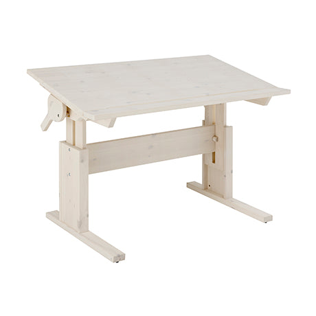 Lifetime Kidsrooms - Height And Slant Adjustable Desk Whitewash
