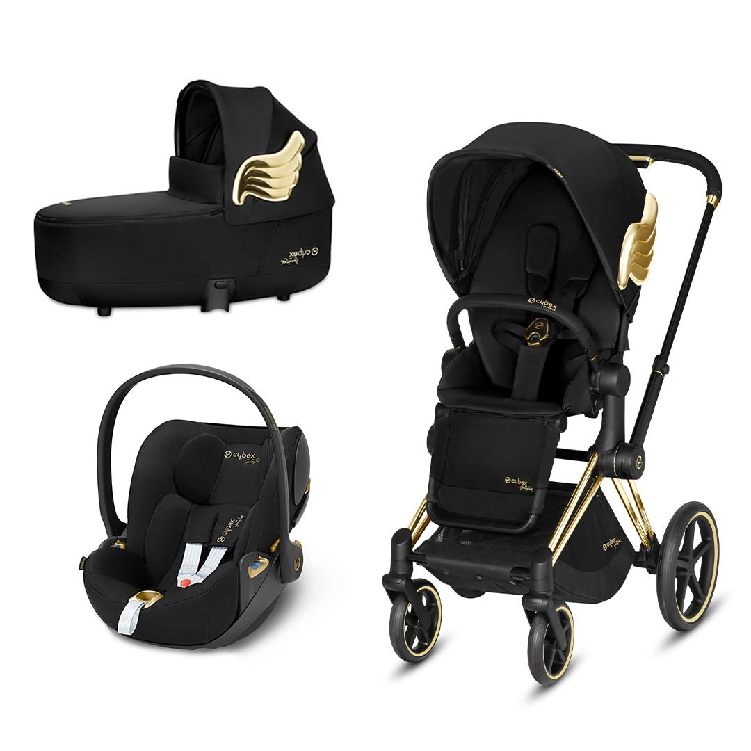 Cybex Priam Travel System - Wings by Jeremy Scott - Gold