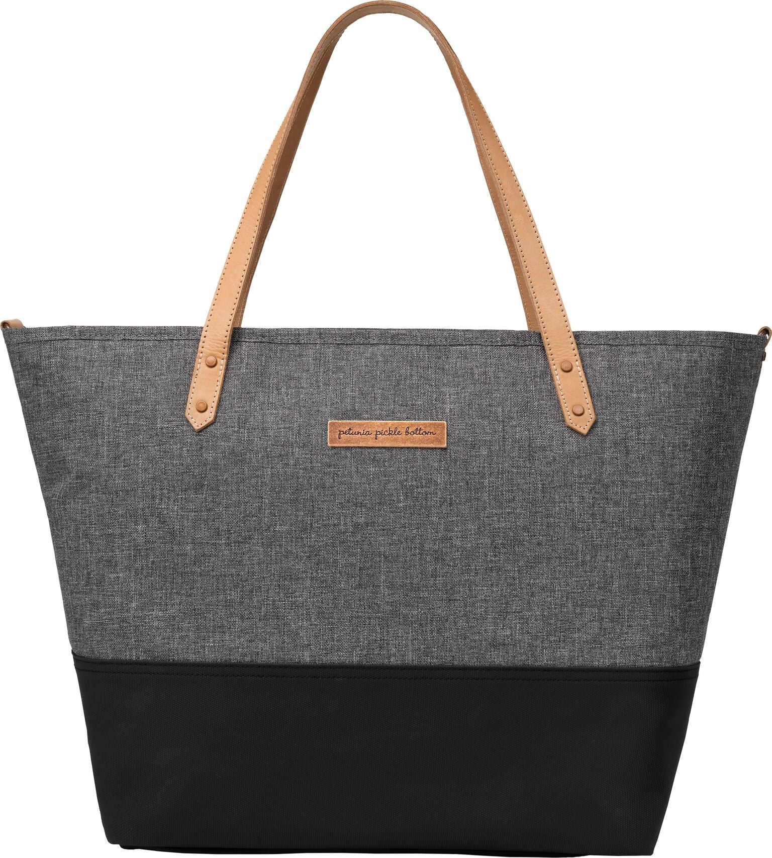Petunia Pickle Bottom Downtown Tote - Birch/Graphite