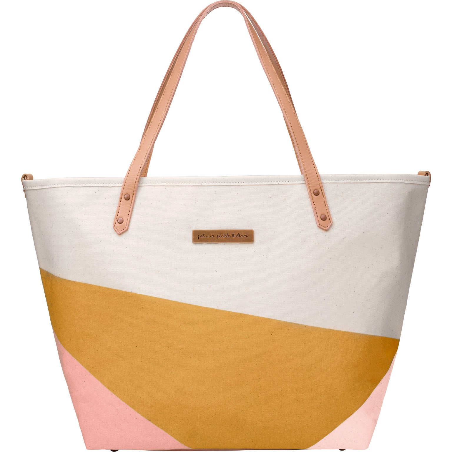 Petunia Pickle Bottom Downtown Tote - Birch/Macaroon
