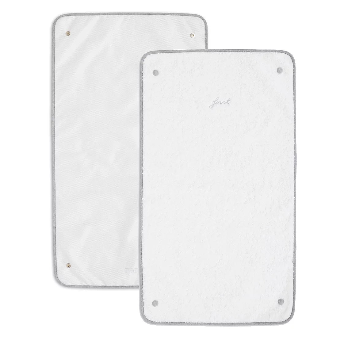 First Endless Grey Changing Pad Extra Towels