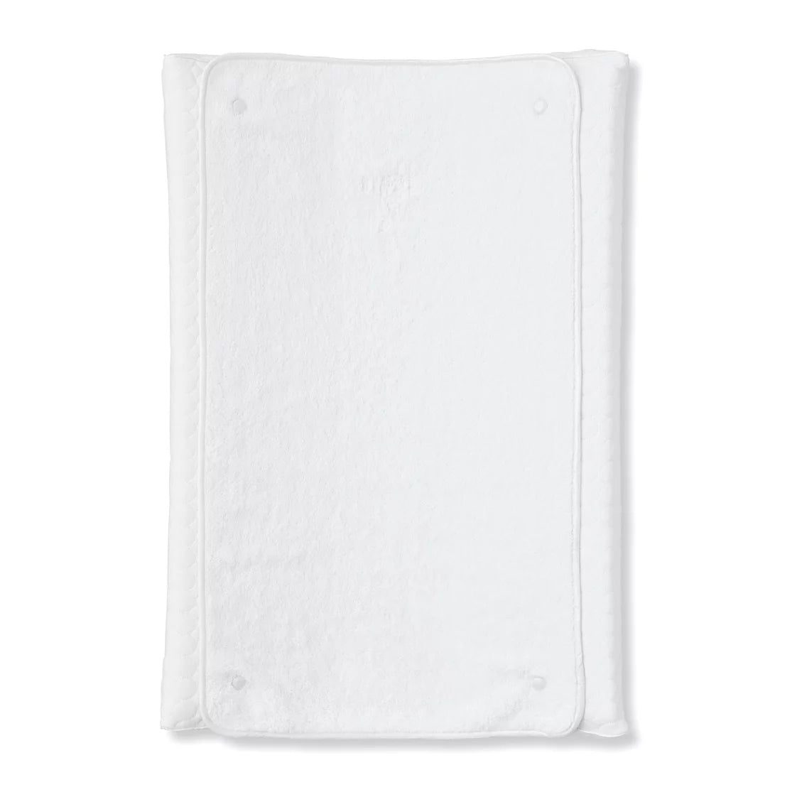 First Crystel White Changing Pad Cover & Towel