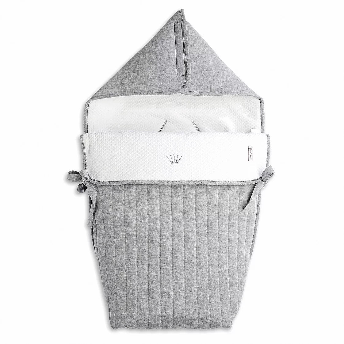 First Endless Grey Angels Nest for Car Seat - Grey Padded Cotton